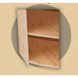 Anita nyitott sarok komód 68x57x68 natúr lakkozott