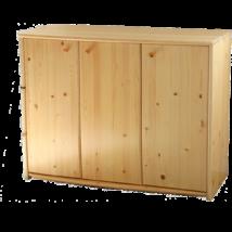 Andi 3 ajtós borovi fenyő komód 73 cm magas