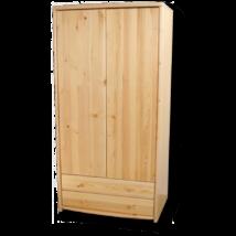 Tamás 2 ajtós 2 fiókos akasztós polcos szekrény
