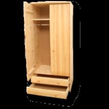 Tamás 2 ajtós 2 fiókos akasztós  szekrény