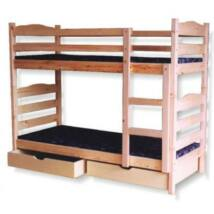 Fenyő emeletes ágykeret 90x200, kettő ággyá alakítható