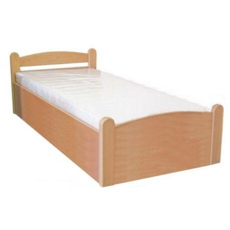 Monori bükk ágyneműtartós ágykeret fix ráccsal 90x200